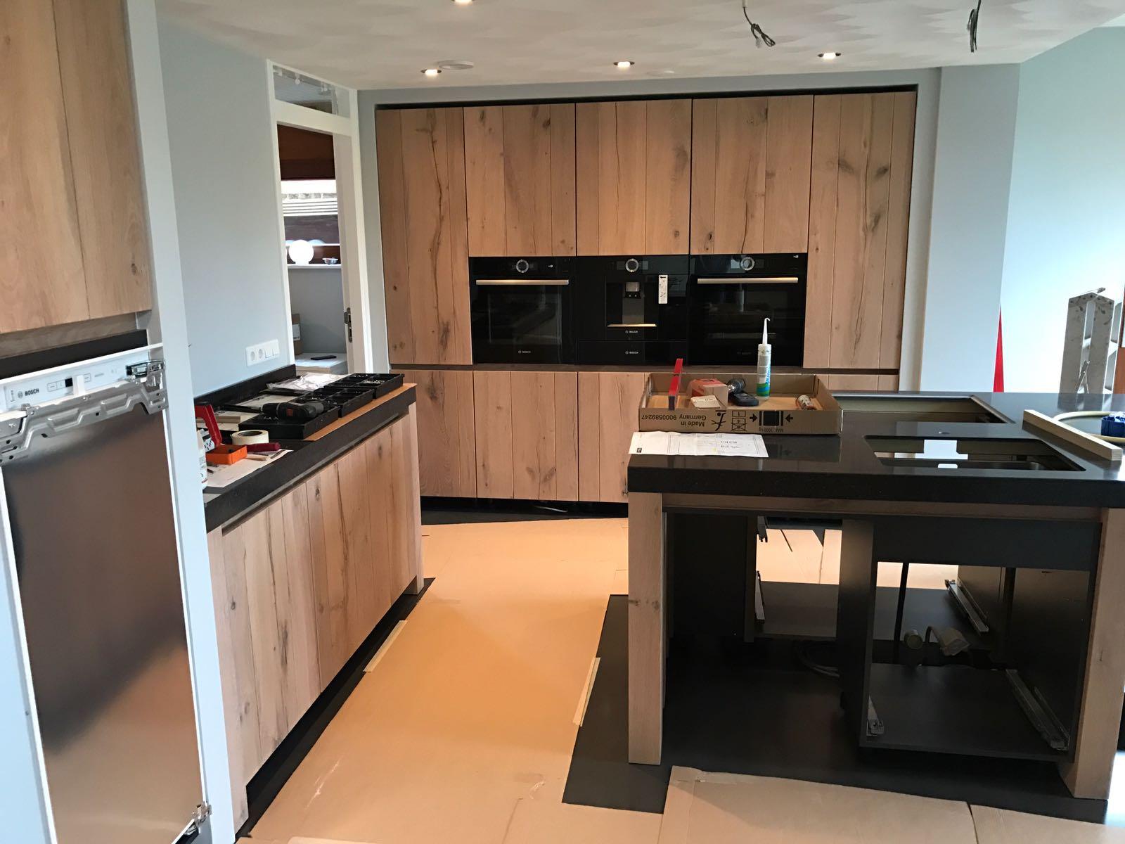 aanbouw met nieuwe keuken